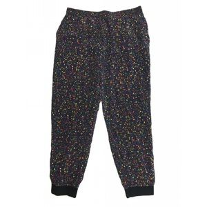 Club Monaco Printed Silk Ankle Jogger Pants